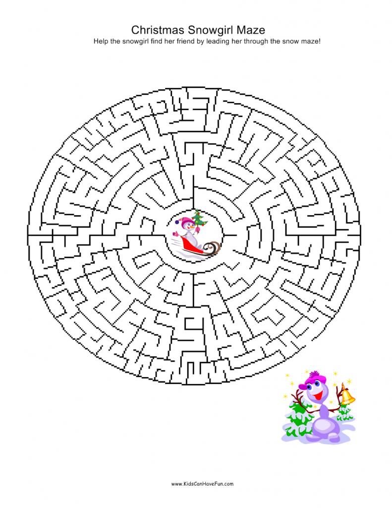 Christmas Mazes.Christmas Mazes Kidscanhavefun Blog