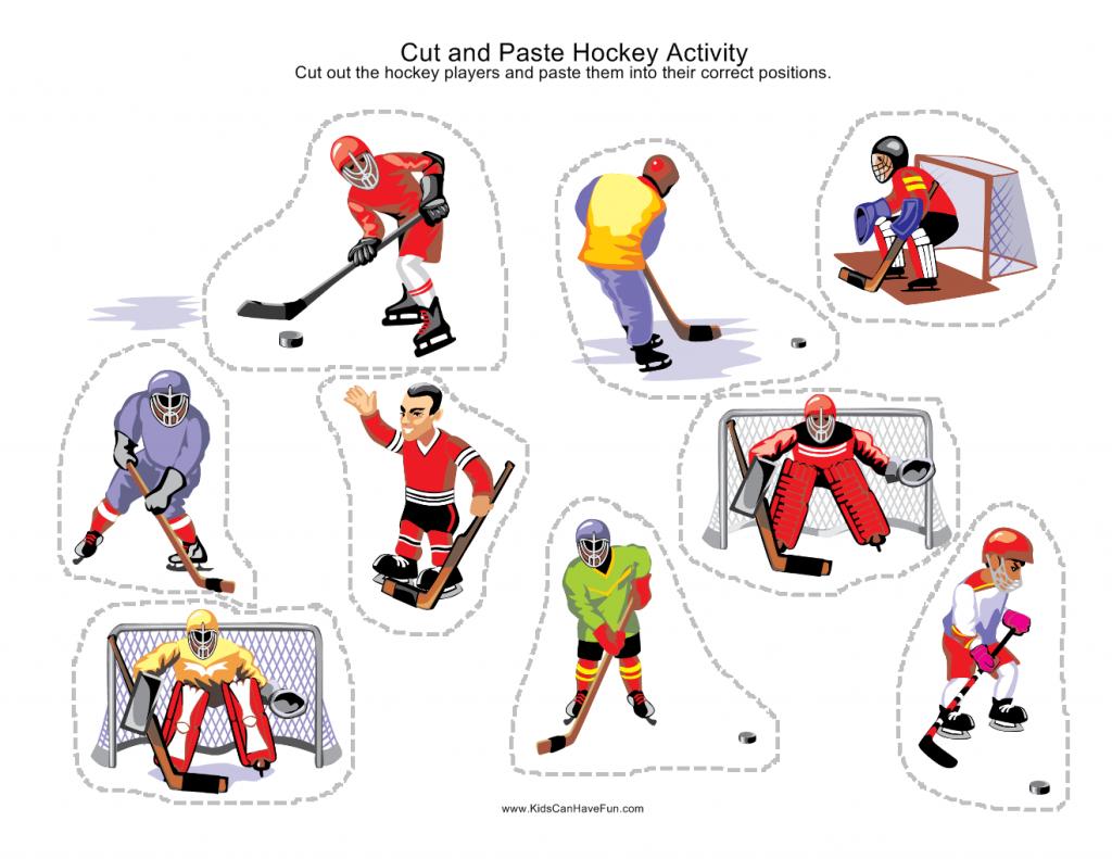 Cut And Paste Sport Scene Worksheets Kidscanhavefun Blog