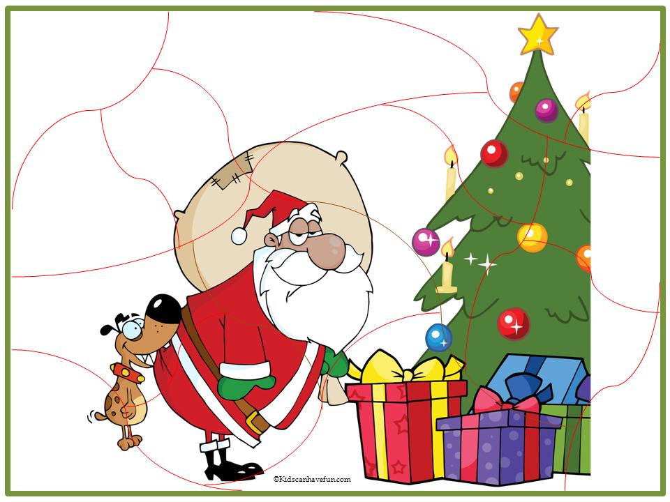 photo regarding Christmas Puzzles Printable named Printable Xmas Jigsaw Puzzles