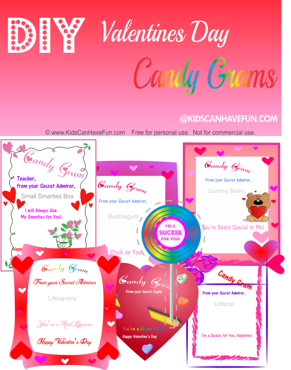 Candy Grams For Valentines Day Candy Gift Ideas