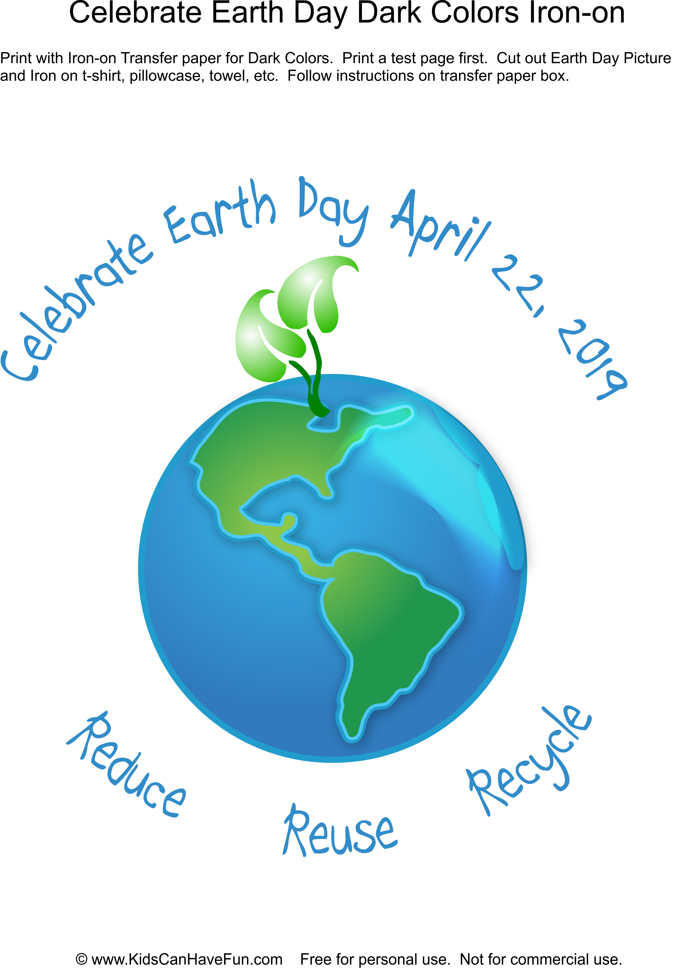 Celebrate Earth Day, Earth Day Shirts, Iron On Transfers