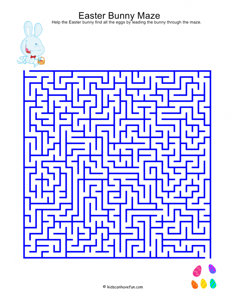 photo about Easter Maze Printable known as Printable Mazes
