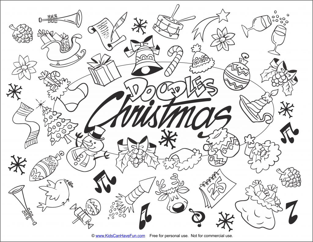 - Free Printable Christmas Coloring Pages, Color Santa Pictures